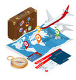 airplane passport flight travel traveller fly vector image vector image