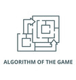 algorithm game line icon outline vector image vector image