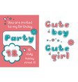 an invitation to a birthday party vector image vector image