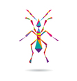 Ant abstract isolated vector image vector image