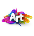 art paper poster with colorful brush strokes vector image vector image