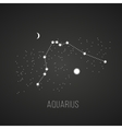 astrology elements aquarius on black vector image vector image