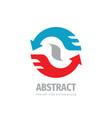 business communication concept logo design arrows vector image vector image