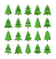 cartoon christmas trees vector image vector image