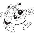 Cartoon dog jumping vector image vector image