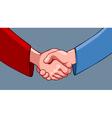 cartoon handshake vector image