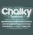 chalk font handwritten sans serif rounded chalky vector image vector image