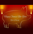 chinese new year background with decoration vector image