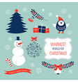 Christmas graphic elements set vector image vector image