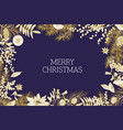 christmas greeting card template decorated by vector image vector image