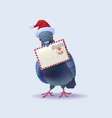 christmas santa claus post pigeon vector image