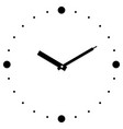clock in white background vector image