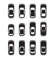 Different cars seen from above vector image vector image