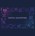 digital marketing concept colorful outline vector image