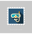 Diving Mask flat stamp Summer Vacation vector image vector image
