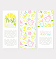 fresh juice natural product banner template with vector image