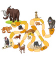 Game template with wild animals vector image vector image