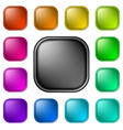 Glassy buttons for web vector image vector image