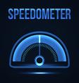 glowing futuristic Speedometer vector image