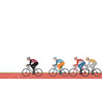 group cyclists man in road bicycle racing on vector image vector image