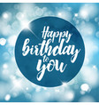 happy birthday with lights vector image vector image