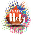 happy holi celebration poster vector image
