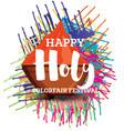 happy holi celebration poster vector image vector image