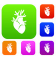 heart set collection vector image
