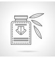 Herbal tincture flat line design icon vector image