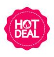 hot deal icon design vector image