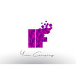 if i f dots letter logo with purple bubbles vector image vector image