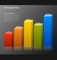 infographic elements in modern fashion bar chart vector image vector image