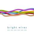 Isolated colorful wires on white background vector image