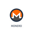 monero cryptocurrency icon vector image vector image