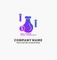 money bag dollar growth stock purple business vector image vector image