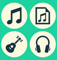 music icons set collection of file music vector image vector image