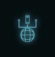 network database neon icon web development icon vector image vector image