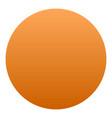 orange icon isometric style vector image