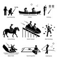 outdoor club games and recreational activities vector image