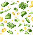 paper money cash flat seamless pattern vector image