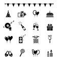 party icons and celebration icons vector image