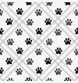 Paw print seamless traces of cat textile pattern