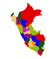 political map of peru vector image