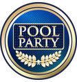 pool party gold icon vector image vector image