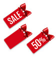 price tags set isolated white background vector image vector image