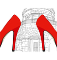 Ravenna city of fashion vector image vector image