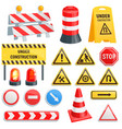 road barrier street traffic-barrier under vector image vector image