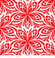 seamless background flowers on red vector image vector image