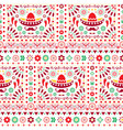 seamless mexican floral pattern vector image vector image