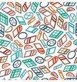 seamless pattern color isometric window vector image vector image
